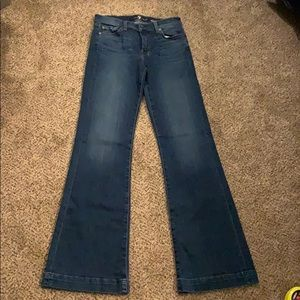 "7 for all mankind Dojo sz 28 inseam 33"" flares"